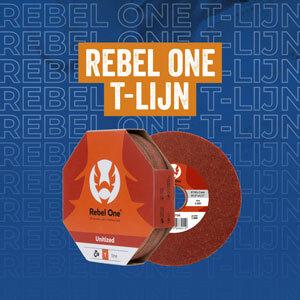 Rebel One T-Lijn: afwerkingsschijf voor inox