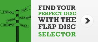 Flap disc selector
